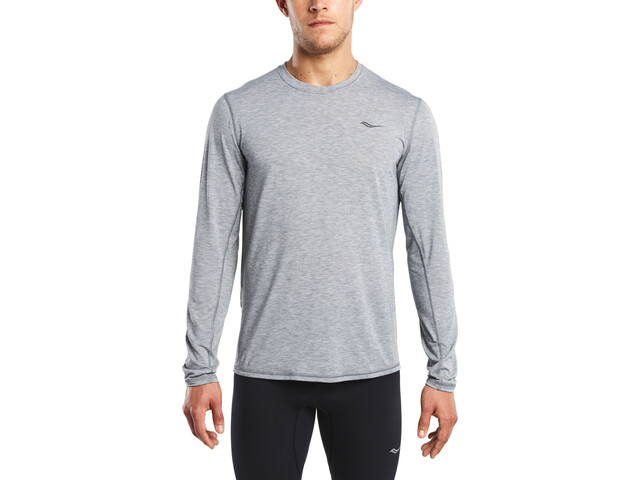 saucony Freedom T-shirt à manches longues Homme, dark grey heather